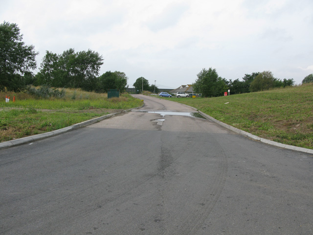 Access road to the Weatherlees Hill wastewater treatment works