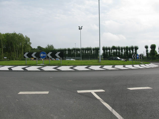 The new Ebbsfleet roundabout