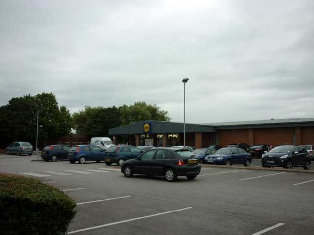 The Lidl supermarket on Albert Road, Farnworth