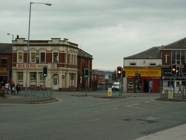 King Street at Market Street, Farnworth
