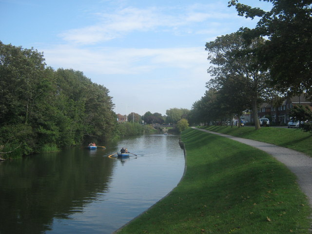 Royal Military Canal in Hythe