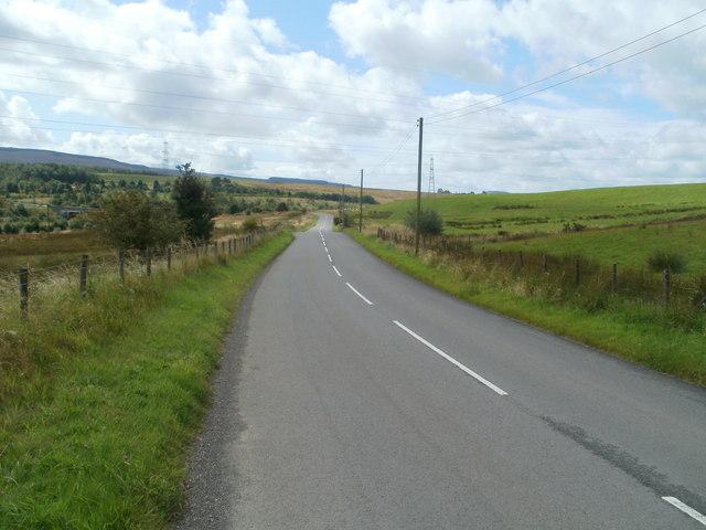 Onllwyn Road heads into Neath Port Talbot County Borough