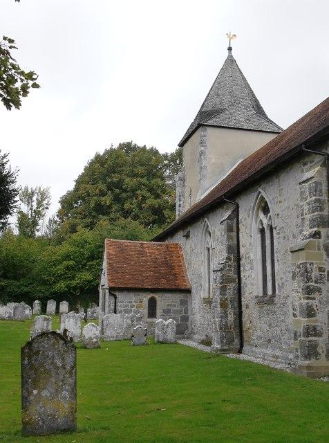 Church and churchyard, St George's, Trotton
