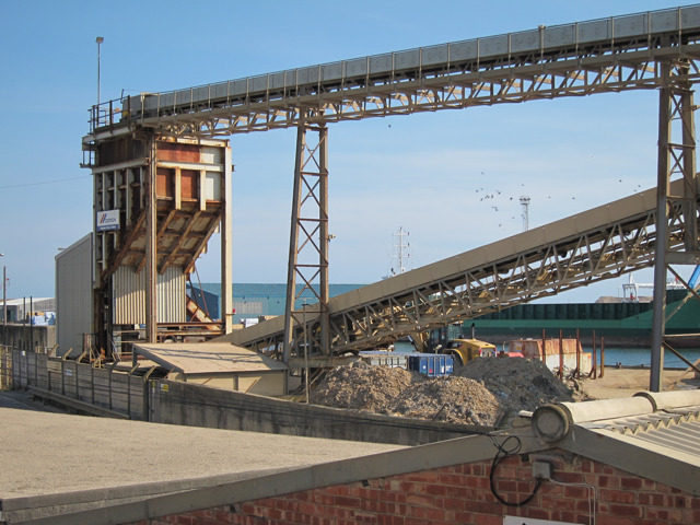 Aggregate conveyors by Fisherman's Wharf