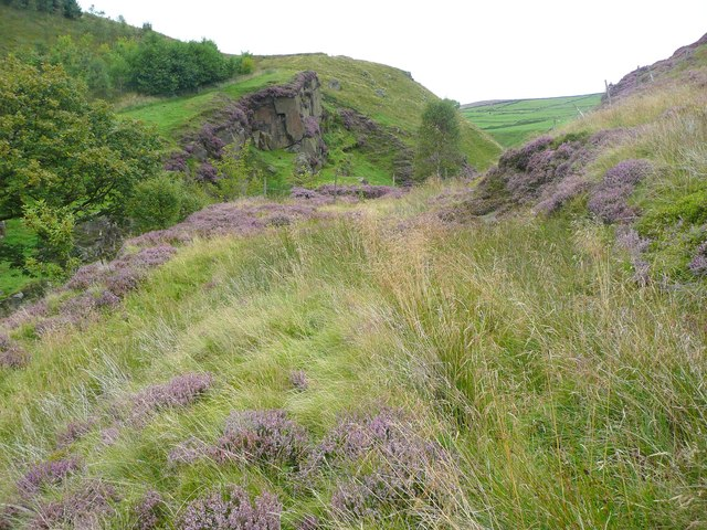 Sharp bend in the path above Pudsey Clough, Todmorden