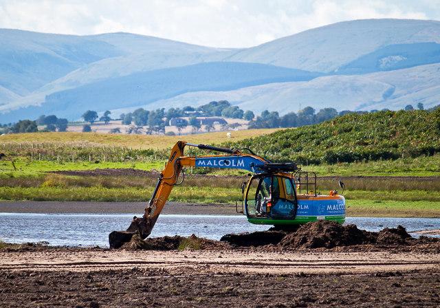Wetland improvements, Vane Farm nature reserve