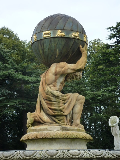 Atlas in the fountain at Castle Howard
