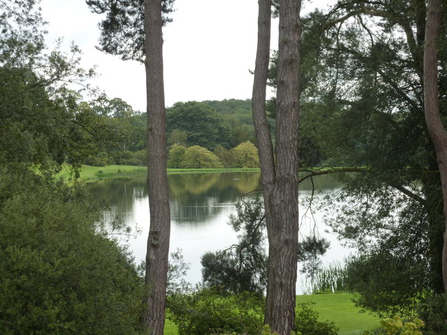 South Lake seen through the trees at Castle Howard