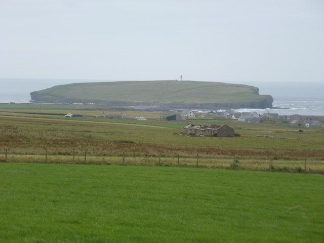Swannay: view towards Brough of Birsay