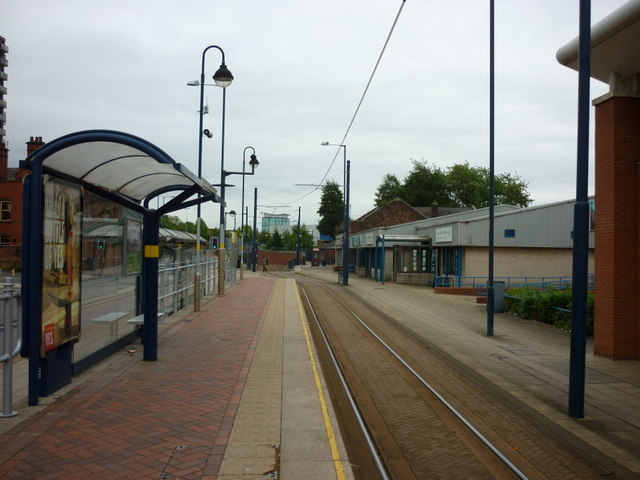 Catching the tram to Manchester