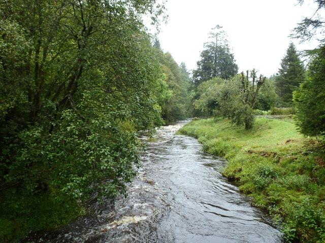 Castlefairn Water at Two-Merkland Mill