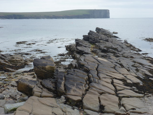 Birsay: rocks lead the eye towards Marwick Head