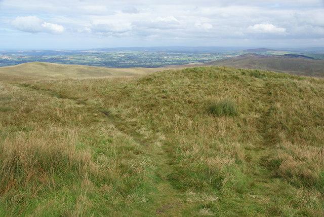 Burial mound on the top of Foel Cwmcerwyn