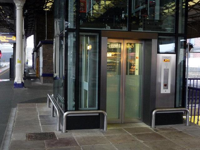 Lift at Huddersfield station