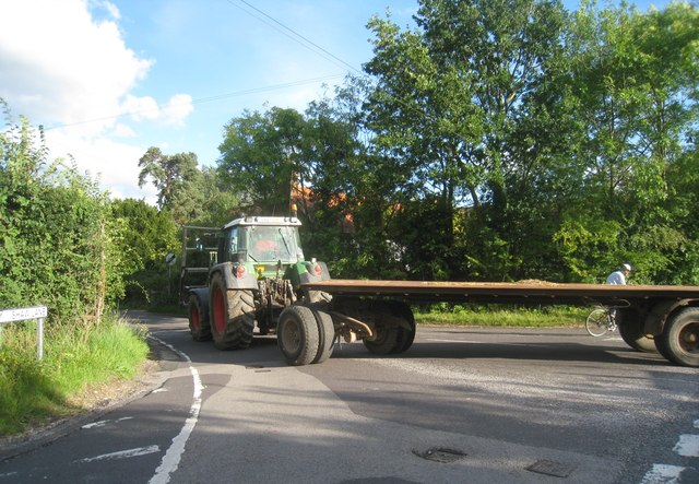 Tractors have right of way