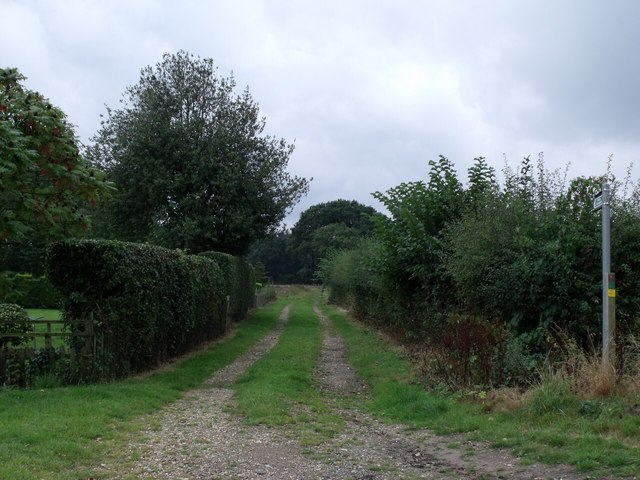 Public Footpath near Keepers Cottage, Tumby Lane