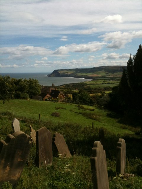 View of Robin Hood's Bay, from Old St Stephen's church