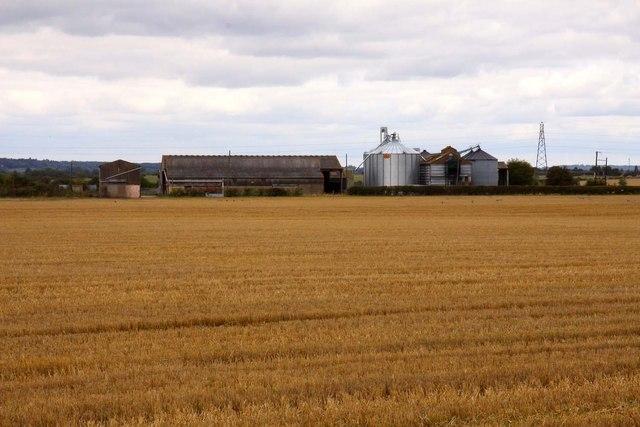 Manor Farm over the field