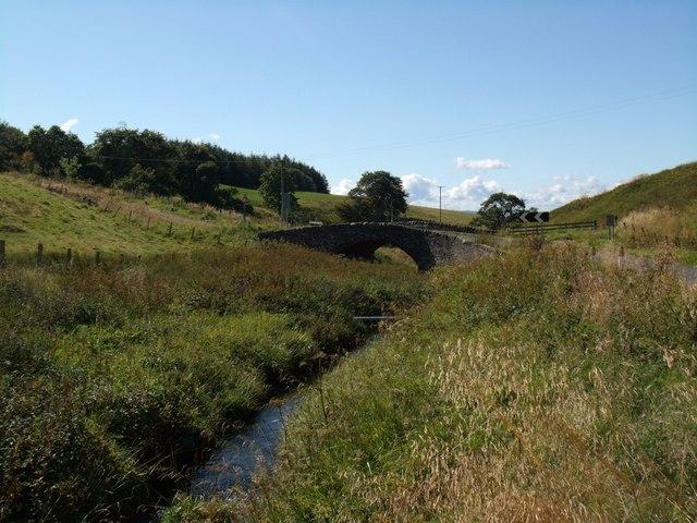 A bridge over the Wharry Burn