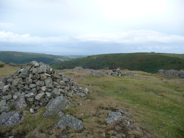 On the top of Hanter Hill, looking to Hergest Ridge
