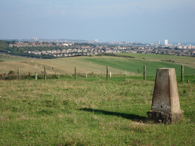 Trig point at Mount Zion