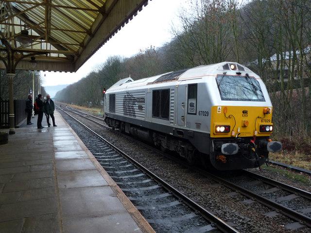 An unusual sight at Hebden Bridge station
