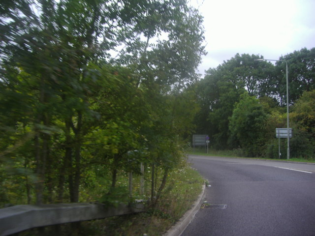 The A224 exit from Hewitt's Roundabout
