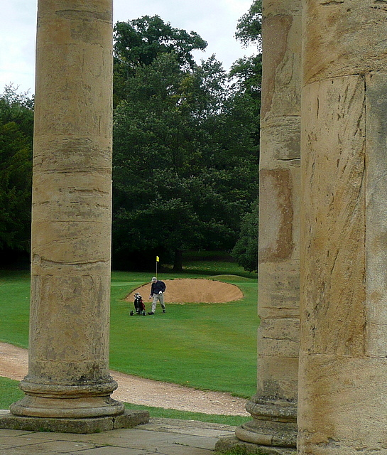 Stowe Park, view from the rotondo