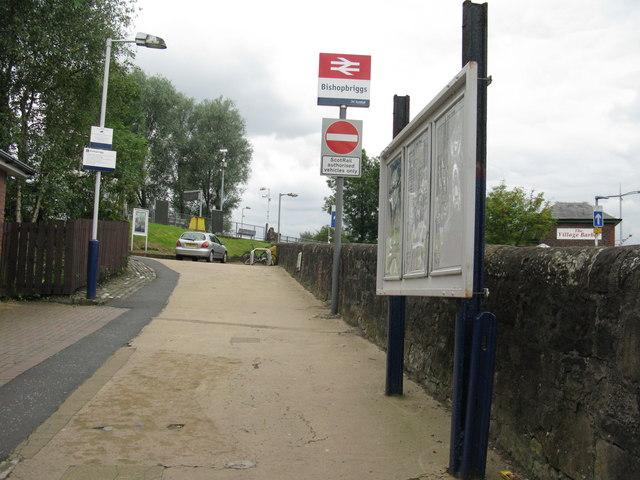 Entrance to Bishopbriggs railway station