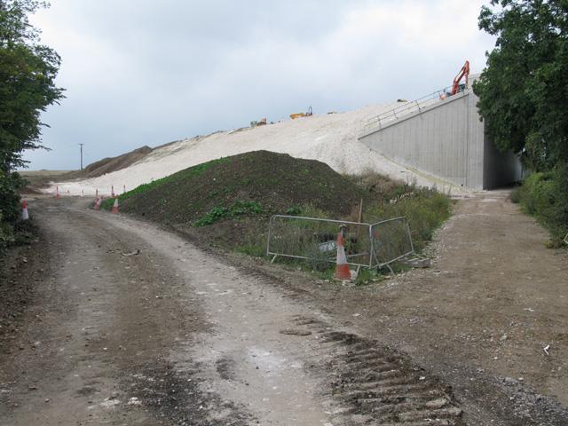 New bridge and road construction