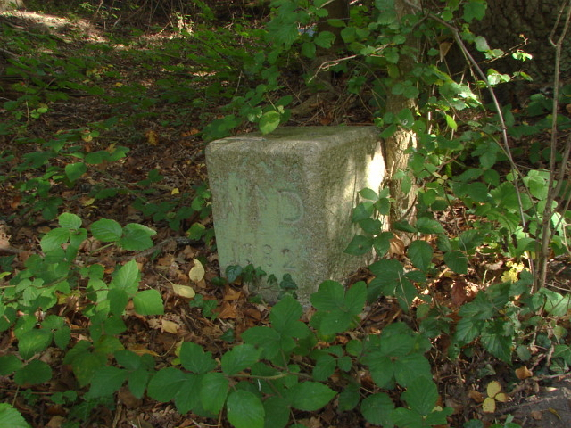 War Department boundary stone