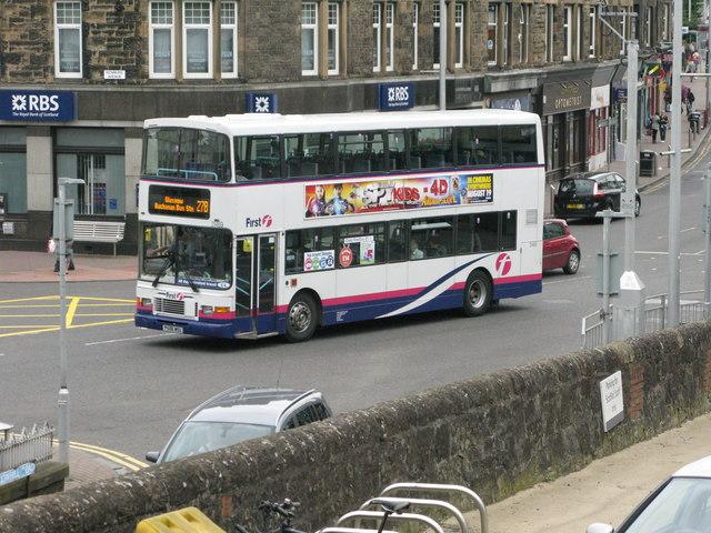 Bus on Kirkintilloch Road (A803)