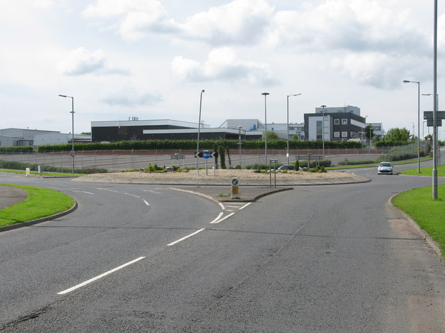 Roundabout on the B799
