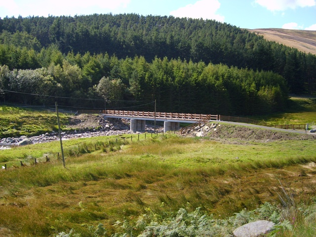 New road bridge at Waterhead, Glen Lethnot