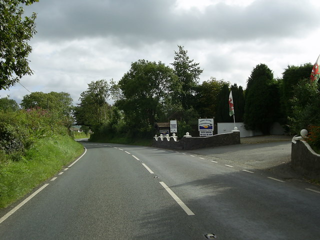 Entrance to Llandissilio Holiday Park.