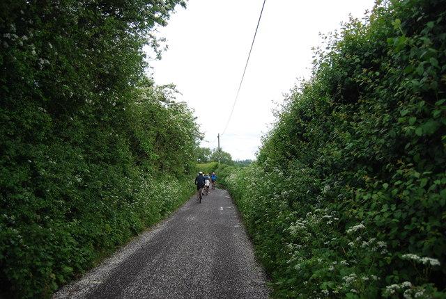 Cycling along King's Barn Lane