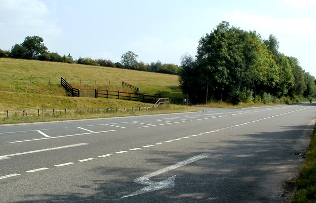 The A road from Triley Mill to Abergavenny