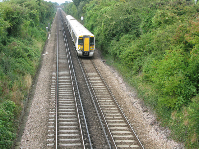 Eastbound train on the Canterbury to Ramsgate line