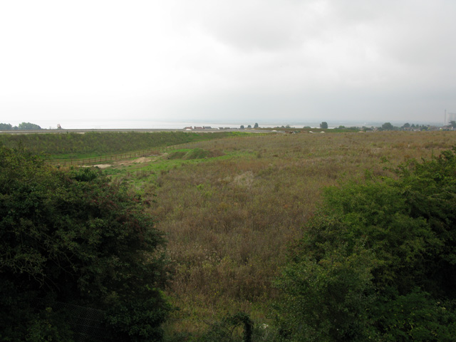 Hollins Bottom and the new A256 embankment