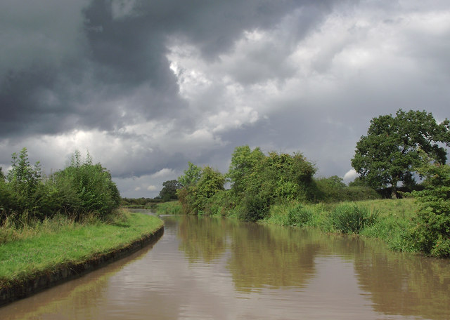 Shropshire Union Canal north-east of Church Minshull, Cheshire