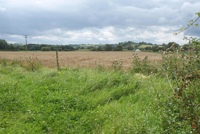 Fields south of Easton