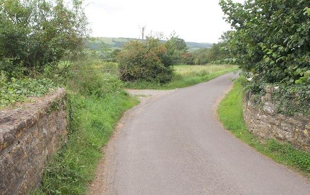 Lane at Knowle Bridge