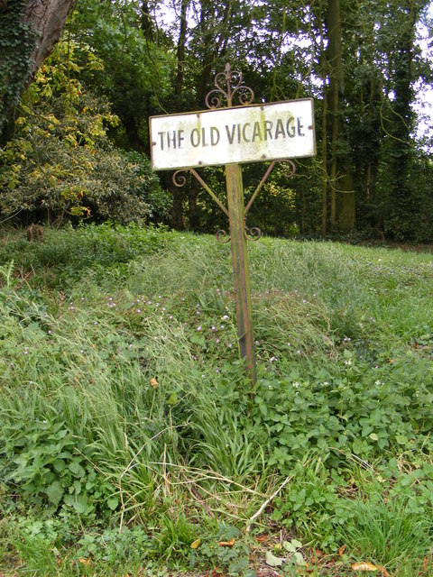 The Old Vicarage sign