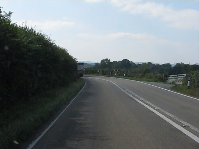 Another tight bend on the A44