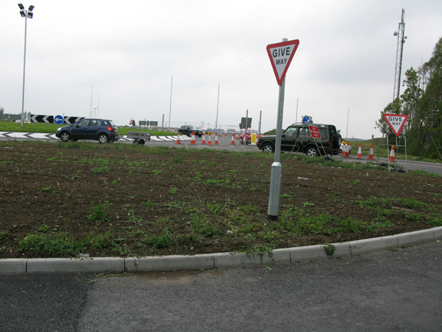 Junction of the new access road onto the A256