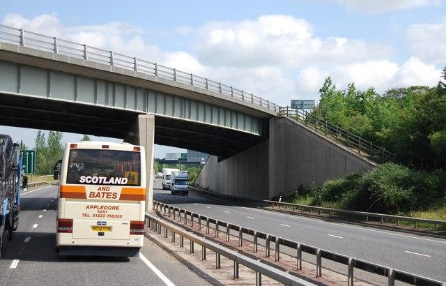 A505 bridge over the A11