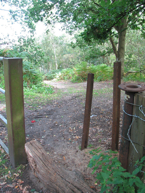 Access route into Bawsey Country Park