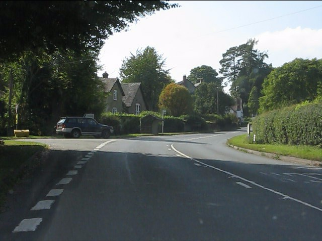 A44 at the A480 junction, Lyonshall