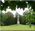 SP6736 : Stowe Park, the Queen Caroline monument by Graham Horn