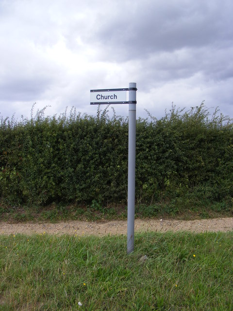 Sign to St.Mary's Church